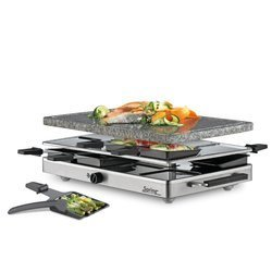 Raclette 8 INOX with granite - SPRING