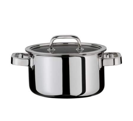 Deep casserole with lid 20 cm - Finesse -  Spring